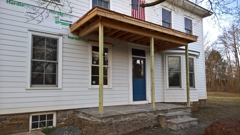 Progress Continues On The Clawson House Check Out Work Front Porch And Back Of